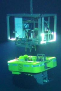 Test deployment in 2015 from RV Sonne by AWI (Wenzhöfer) at 4300 m water depth at the Clarion-Clipperton fracture zone